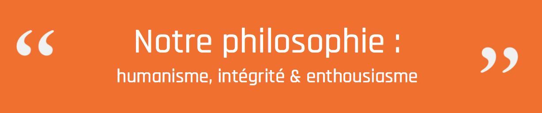 humanisme - intégrité & enthousiasme